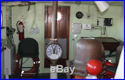 WWII Liberty / Victory Ship's Wheel House Desk USA Battle Navy Marine Combat