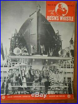 WWII Maritime Trade Magazines Bo's'n's Whistle Oregon Ship Building Corp