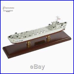 WWII US 752 Navy LST Boat Landing Ship Tank Assembled 24' Built Wooden Model New