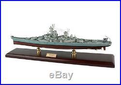 WWII USN BATTLESHIP USS MISSOURI BB63 Lage 30.5 Wooden Model Warship Assembled