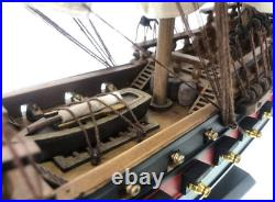 Wooden Henry Avery's Fancy White/Black Sails Limited Model Pirate Ship 26