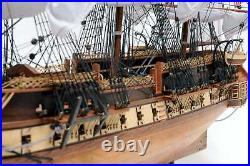 Wooden Model Ship USS Constitution Fully Assembled Floor Standing Case