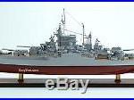 Wooden USS California BB-44 Tennessee-class Battleship Ship Model Scale 1200