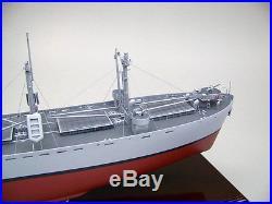 World War II Liberty cargo ship display mahogany wood custom model