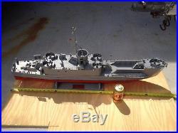 Ww 2 landing craft infantry model wood ship, hand built, 40, WILL SHIP
