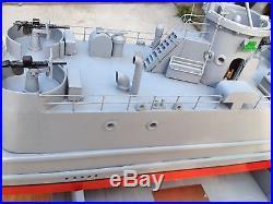 Ww 2 landing craft infantry model wood ship, hand built, 40, model wood boat