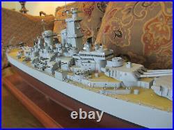 Ww2 Missouri Bb-63 Battleship War Ship Display Model 38 Japan Surrendered Here