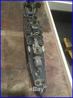 Ww2 model ship, USS INDIANAPOLIS, 1/350 scale, Tamiya, pls read description belo