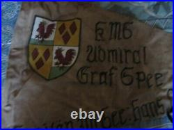 Wwii German Kms Graf Spee Pocket Battleship Bar Barracks Flag
