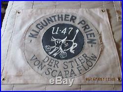 Wwii German U-boat U-47 Kl Gunther Prien Bull Of Scapa Flow Victory Flag