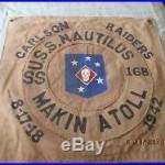 Wwii Usmc Carlsons Raider Uss Nautilus Submarine Ss-168 Makin Atoll Raid Flag