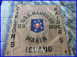 Wwii Usmc Raider Usn Uss Nautilus Makin Island Raid Ready Room Flag