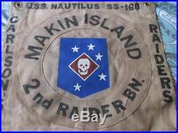 Wwii Usmc Raider Usn Uss Nautilus-argonaut Makin Raid Ready Room Flag