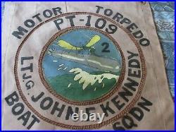 Wwii Usn Pt Boat Motor Torpedo Boat Sqdn 2 Pt-109 Jf Kennedy Ready Room Flag