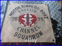 Wwii Usn Pt Boat Motor Torpedo Boat Sqdn 35 England Ready Room Wall Flag