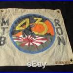 Wwii Usn Pt Boat Motor Torpedo Boat Sqdn 43 Panther Rising Sun Banner Flag