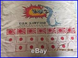 Wwii Usn Uss Sawfish Ss-276 Submarine Boat Victory Wall Flag