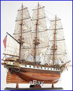 XL USS Constellation Frigate Tall Ship Model 56 Wooden Sloop Of War Warship New