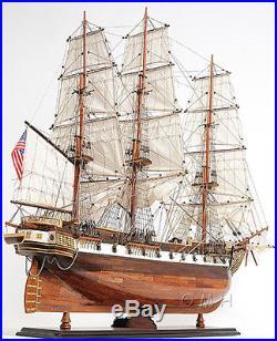 XL USS Constellation Frigate Wooden Tall Ship Model 56 Sloop Of War Warship New