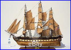 XL USS Constitution Wooden Tall Ship Model 59 Old Ironsides Fully Assembled New